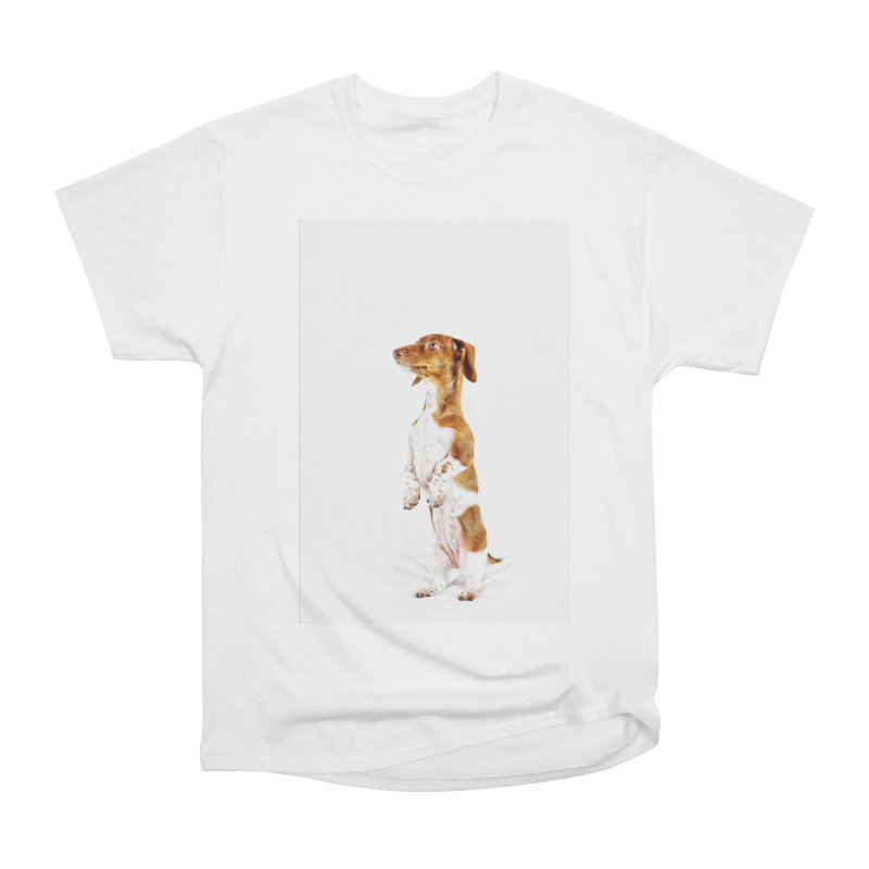 Piebald Dachshund Women's Heavyweight Unisex T-Shirt by rufusontheweb's Artist Shop