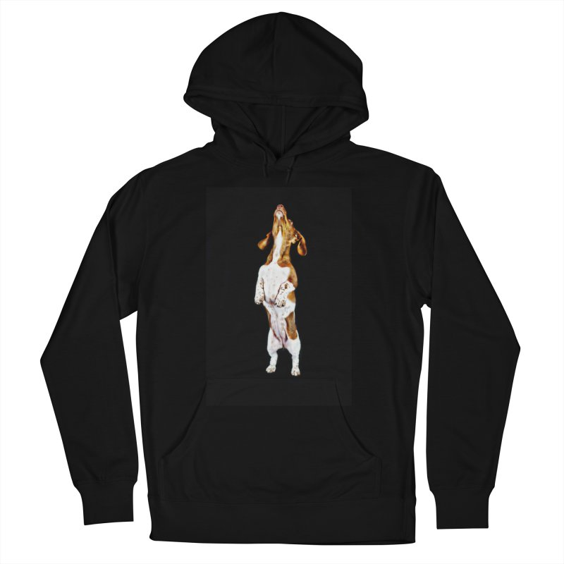 Piebald Dachshund (on black) Men's Pullover Hoody by rufusontheweb's Artist Shop