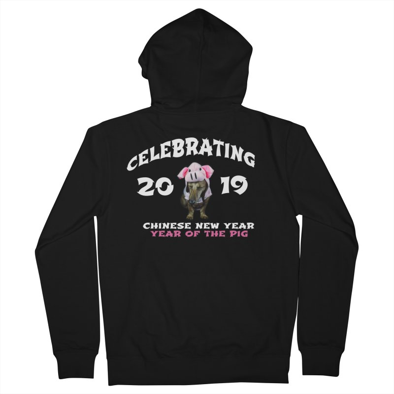 Chinese New Year 2019 Women's French Terry Zip-Up Hoody by rufusontheweb's Artist Shop