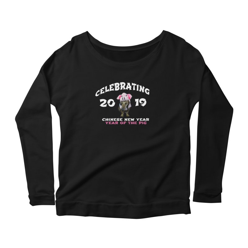 Chinese New Year 2019 Women's Longsleeve T-Shirt by rufusontheweb's Artist Shop