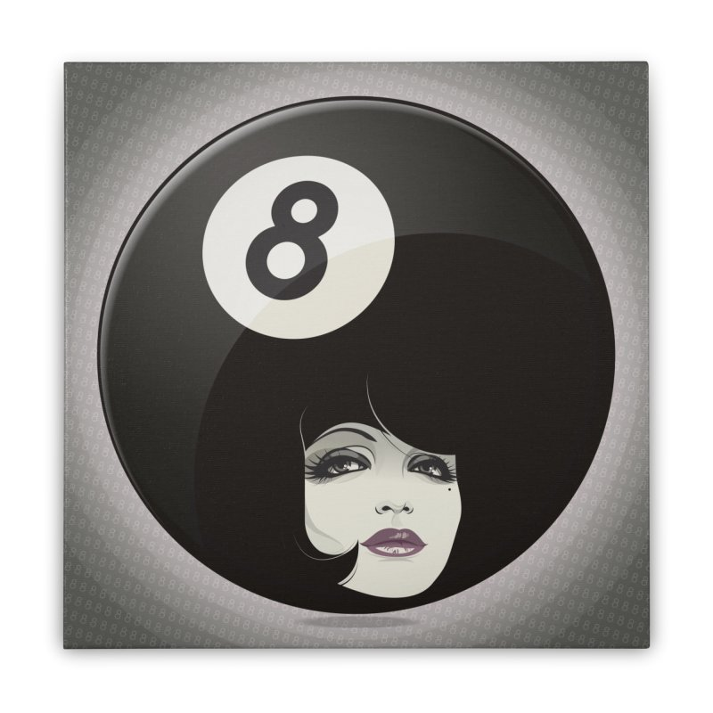 8 Ball Home Stretched Canvas by rugiada's Artist Shop