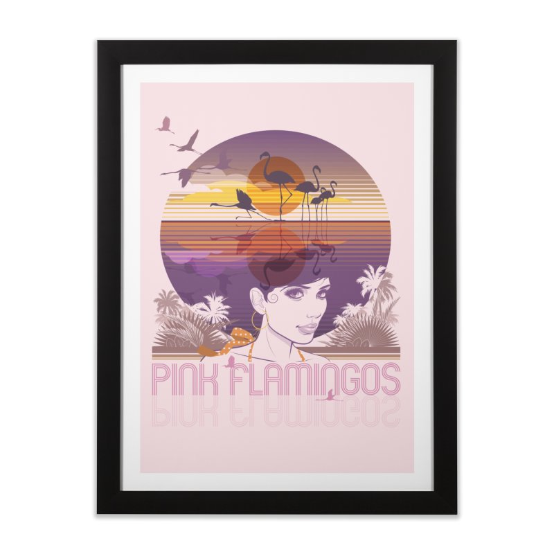 Sunset Home Framed Fine Art Print by rugiada's Artist Shop