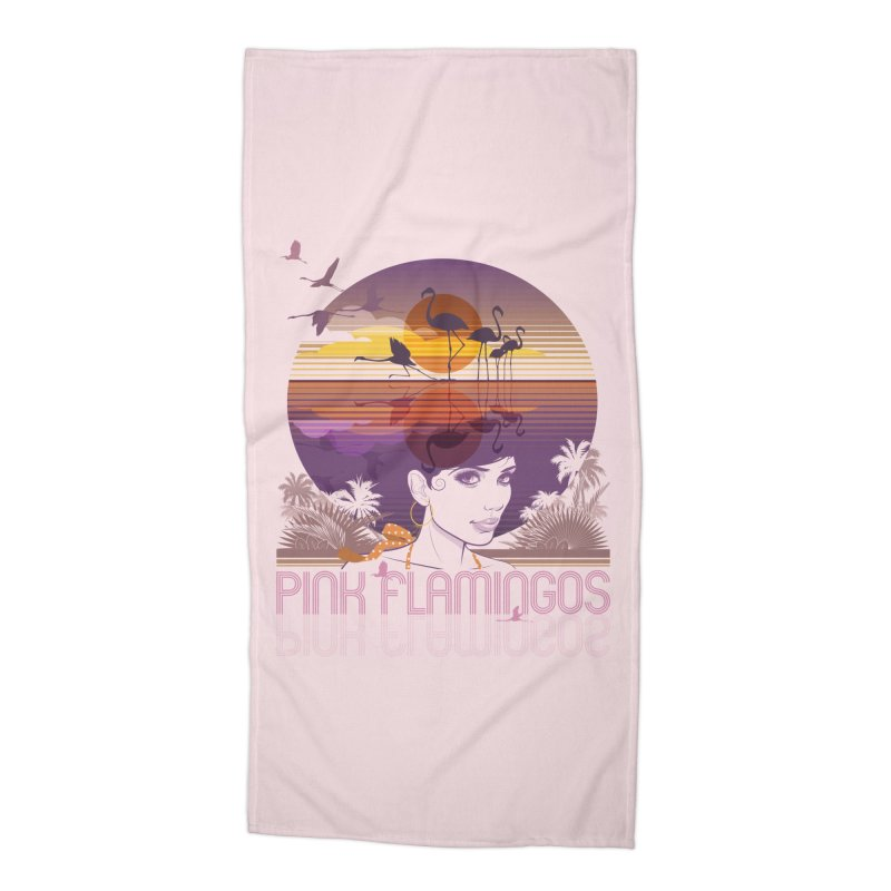 Sunset Accessories Beach Towel by rugiada's Artist Shop