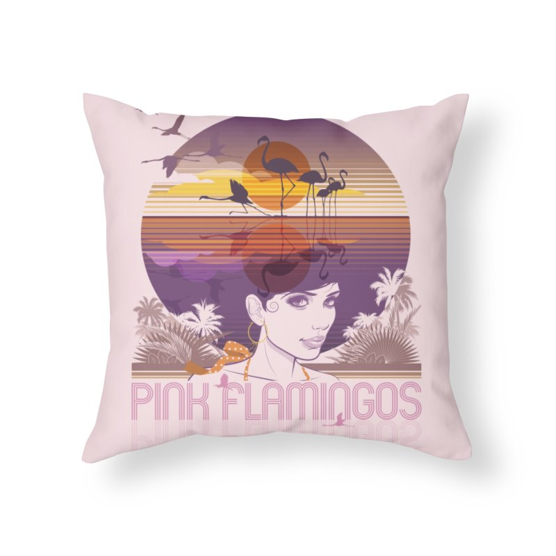 Sunset Home Throw Pillow by rugiada's Artist Shop