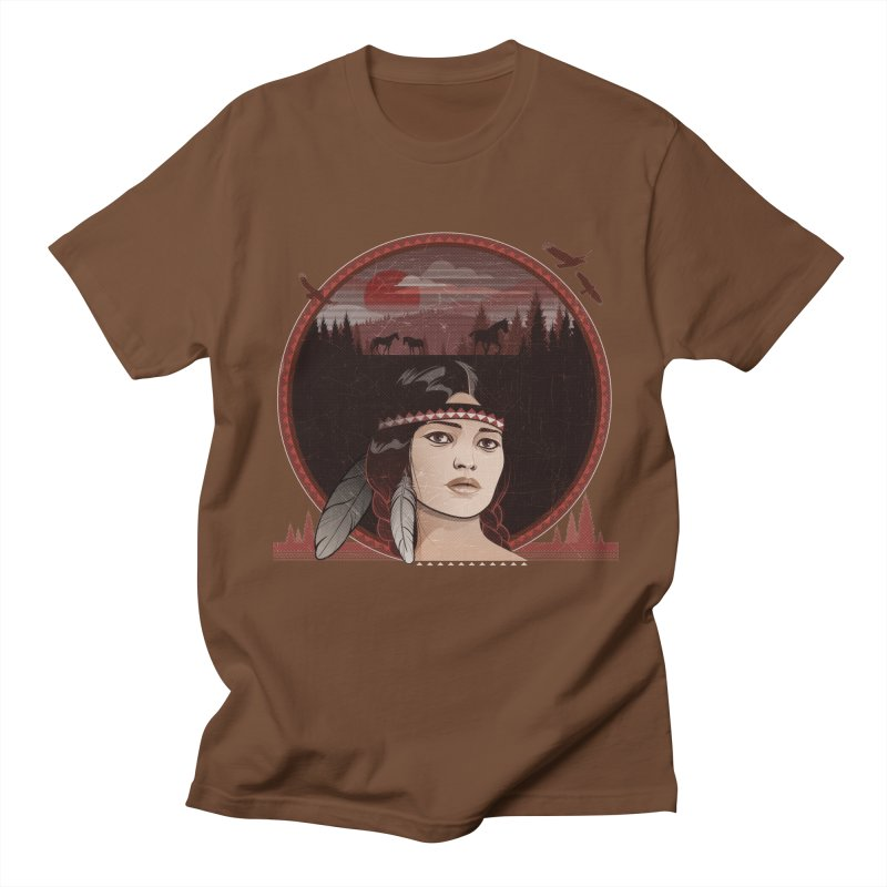 Native American Men's T-Shirt by rugiada's Artist Shop
