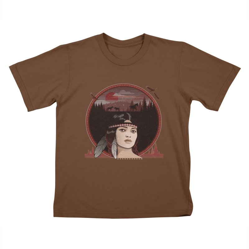 Native American Kids T-shirt by rugiada's Artist Shop