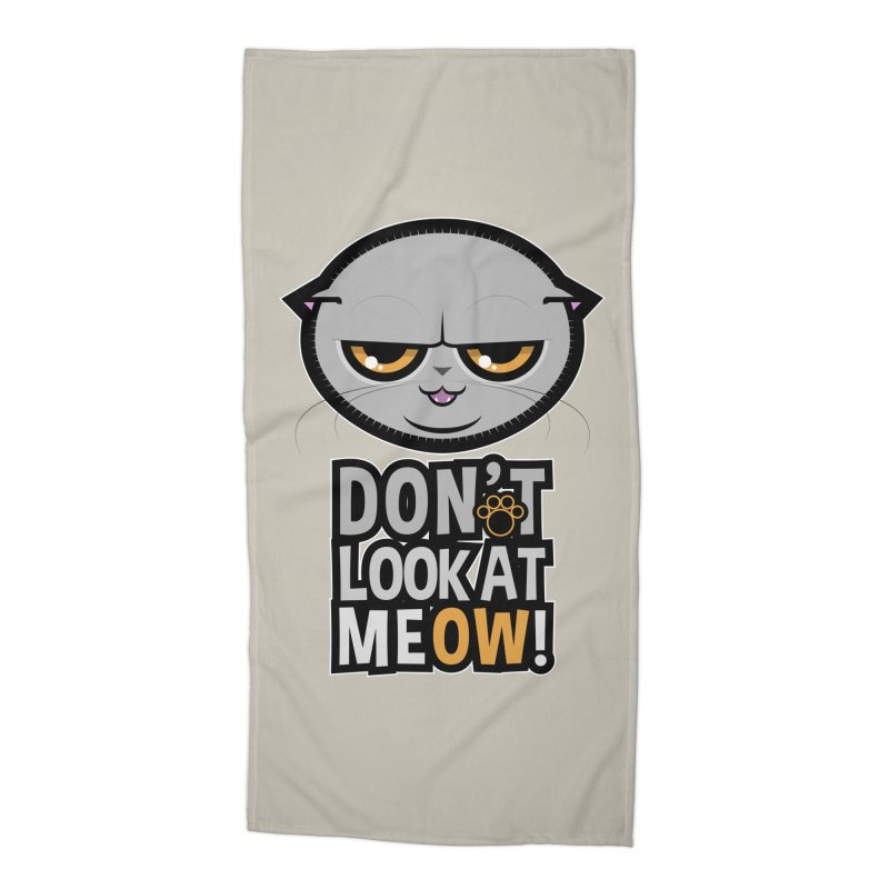 Meow Accessories Beach Towel by rugiada's Artist Shop