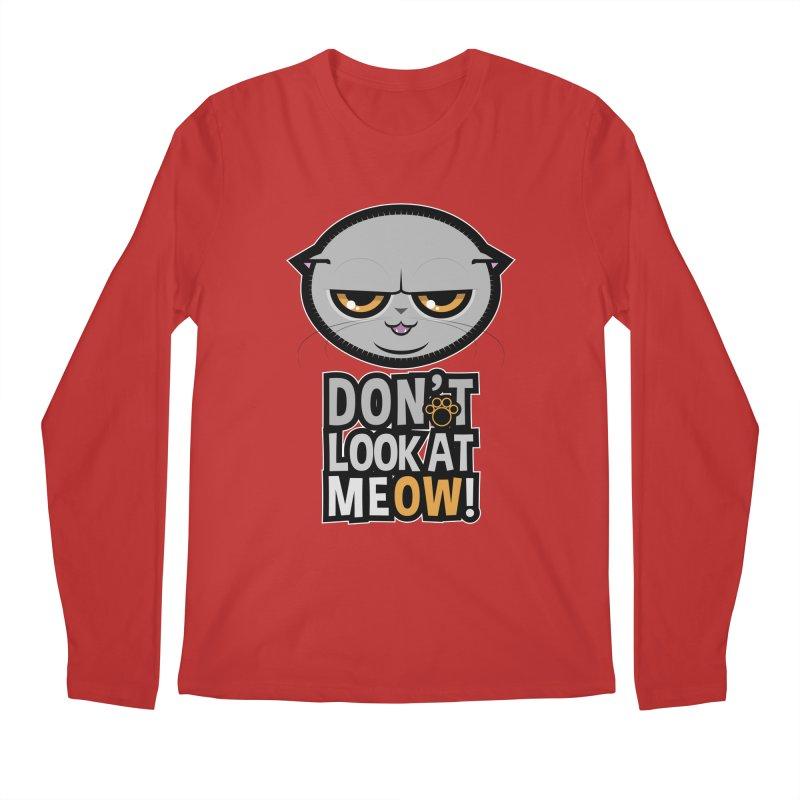 Meow Men's Regular Longsleeve T-Shirt by rugiada's Artist Shop