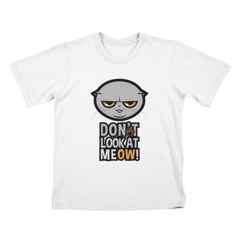 Meow Kids T-Shirt by rugiada's Artist Shop