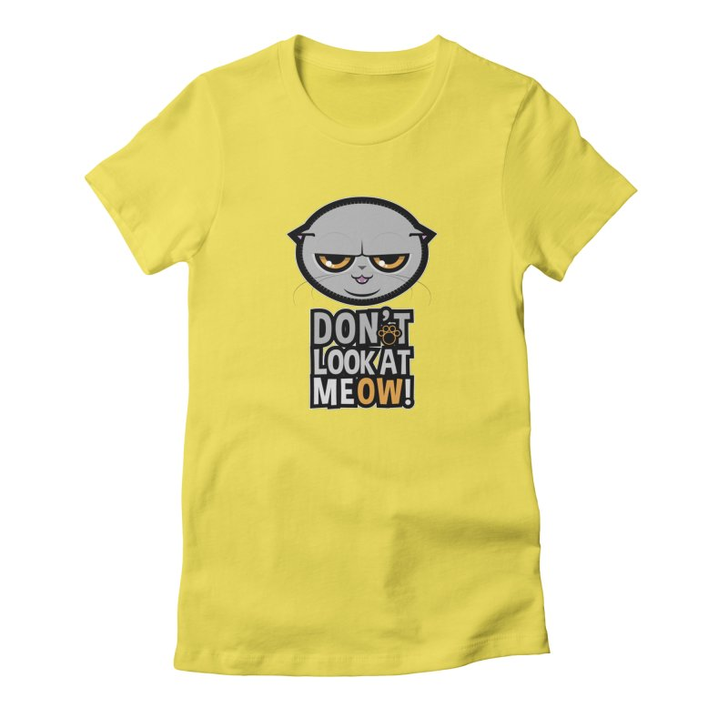 Meow Women's T-Shirt by rugiada's Artist Shop