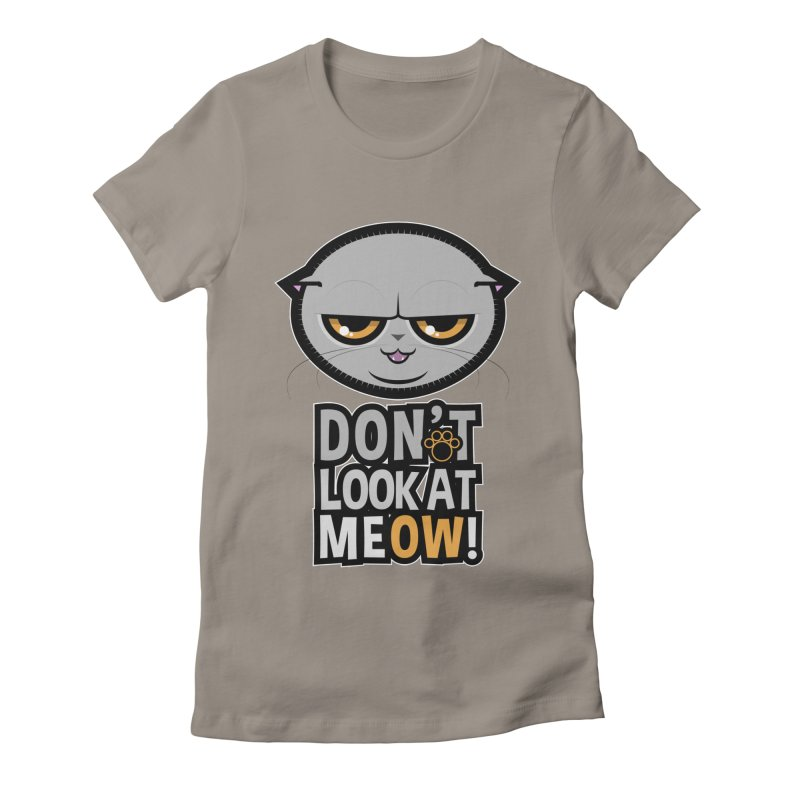 Meow Women's Fitted T-Shirt by rugiada's Artist Shop
