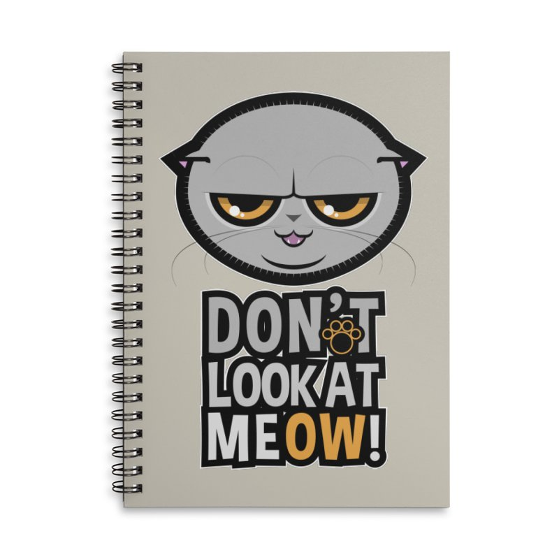 Meow Accessories Lined Spiral Notebook by rugiada's Artist Shop