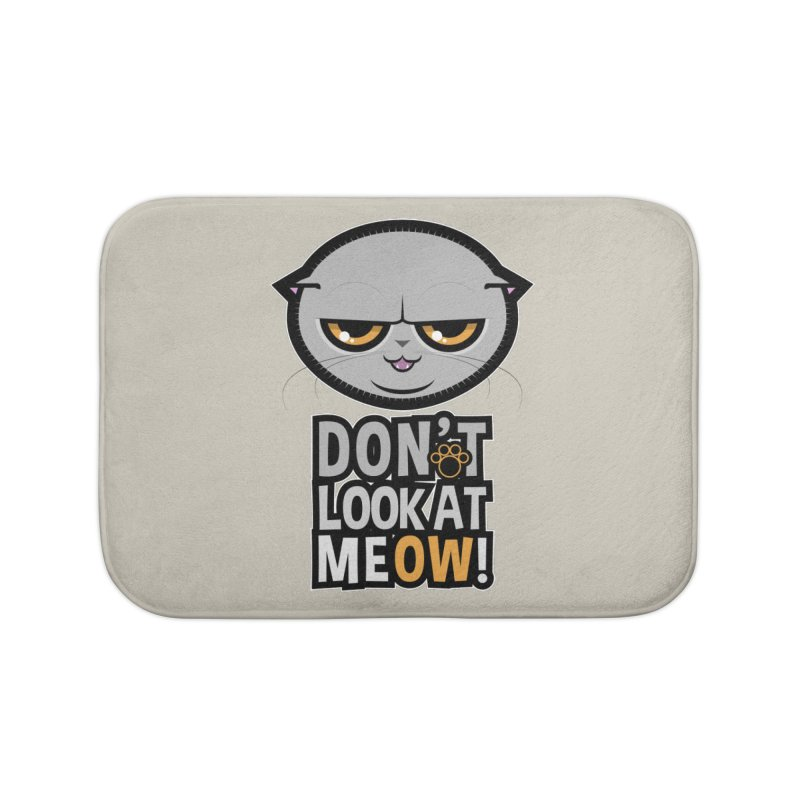 Meow Home Bath Mat by rugiada's Artist Shop