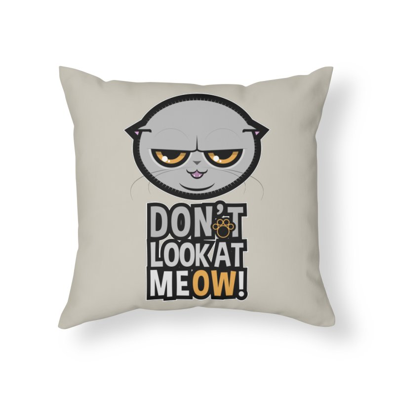 Meow Home Throw Pillow by rugiada's Artist Shop