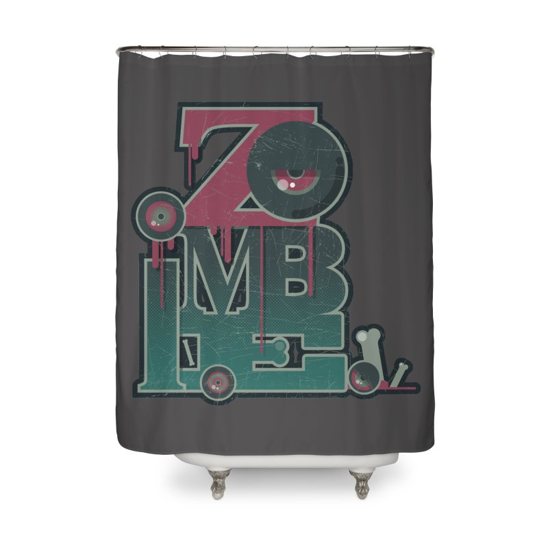 zombie Home Shower Curtain by rugiada's Artist Shop