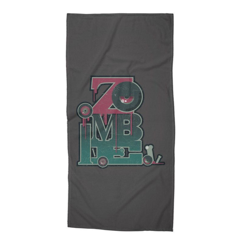 zombie Accessories Beach Towel by rugiada's Artist Shop