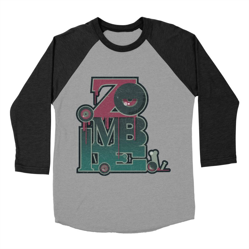 zombie Men's Baseball Triblend Longsleeve T-Shirt by rugiada's Artist Shop