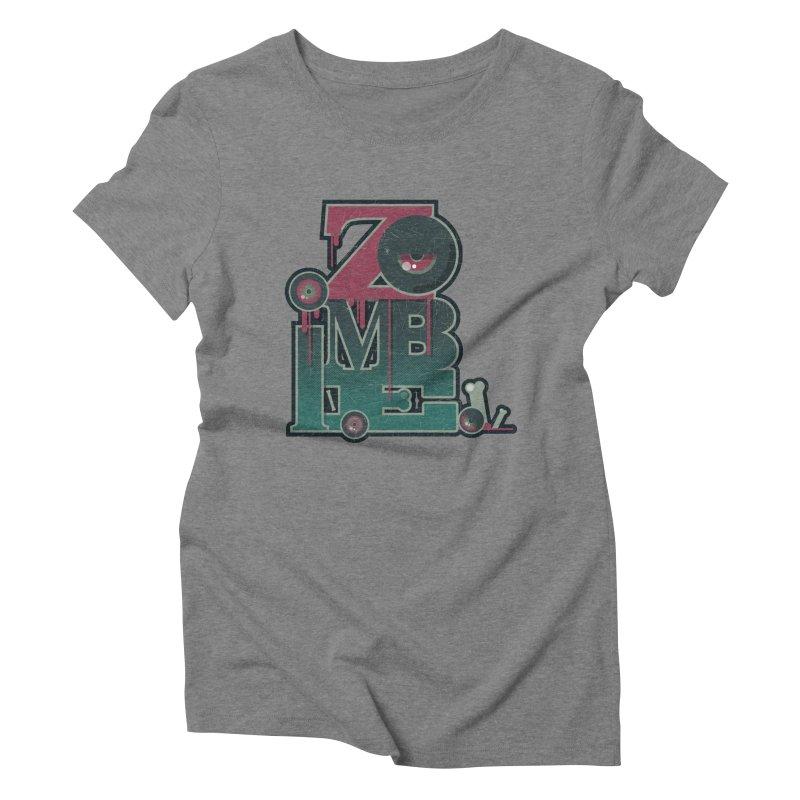 zombie Women's Triblend T-Shirt by rugiada's Artist Shop