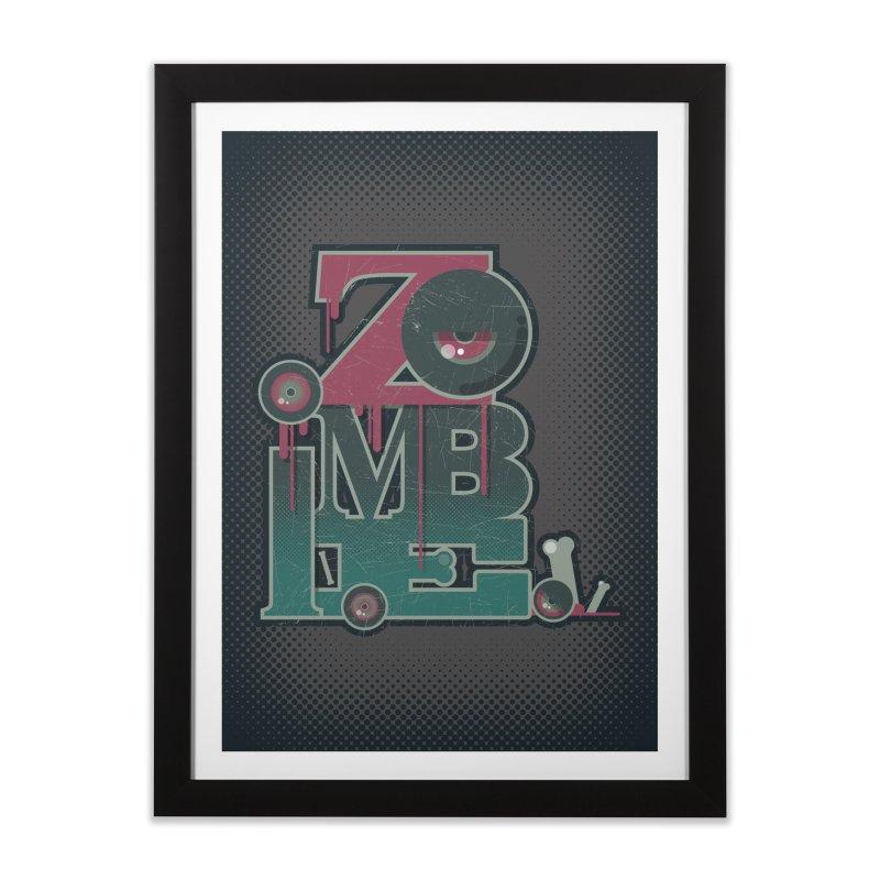zombie Home Framed Fine Art Print by rugiada's Artist Shop