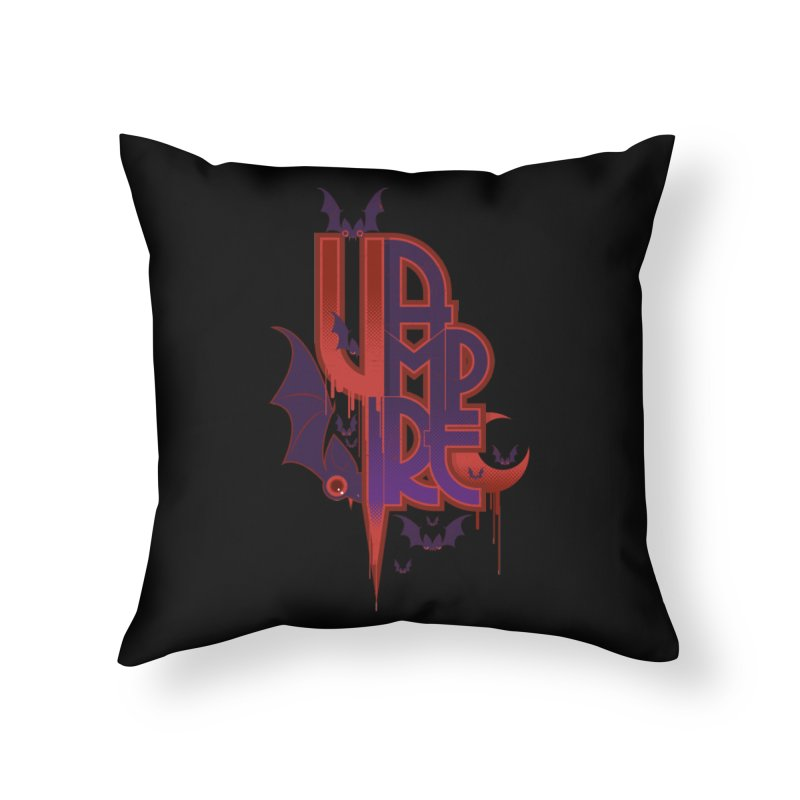 vampire Home Throw Pillow by rugiada's Artist Shop