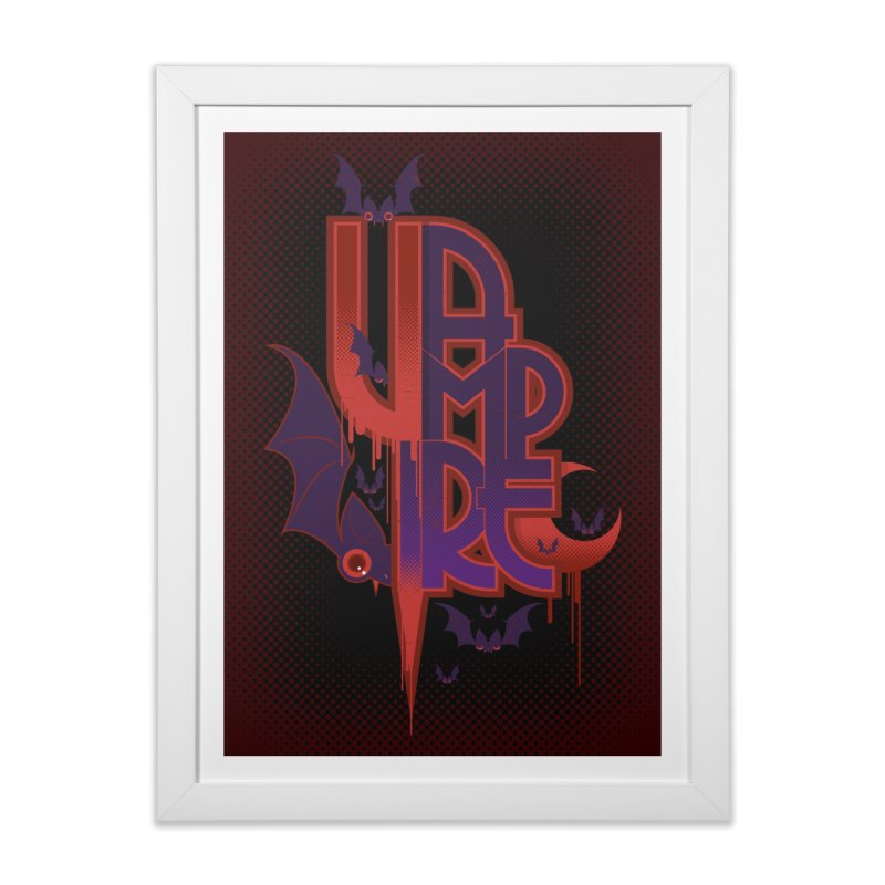 vampire Home Framed Fine Art Print by rugiada's Artist Shop