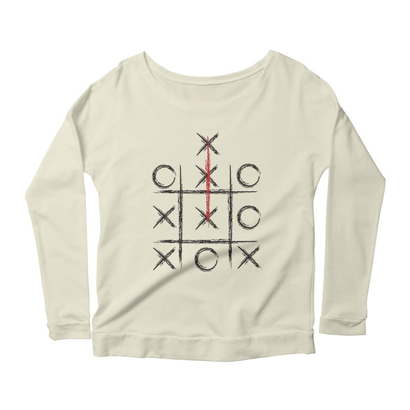 Break The Rules Think Outside the Box Women's Longsleeve Scoopneck  by ruifaria's Artist Shop