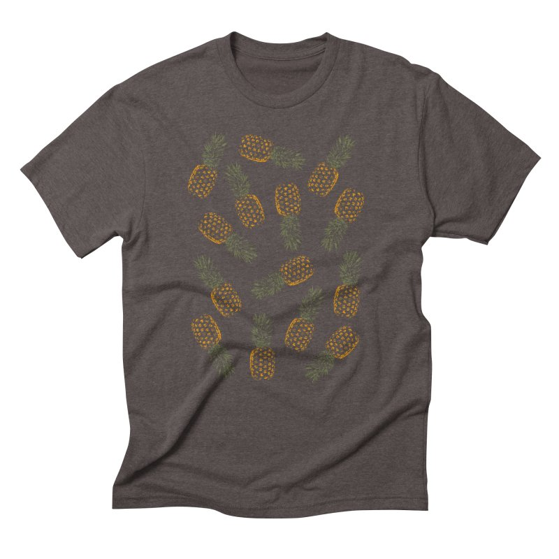 Pineapples Men's Triblend T-Shirt by ruifaria's Artist Shop