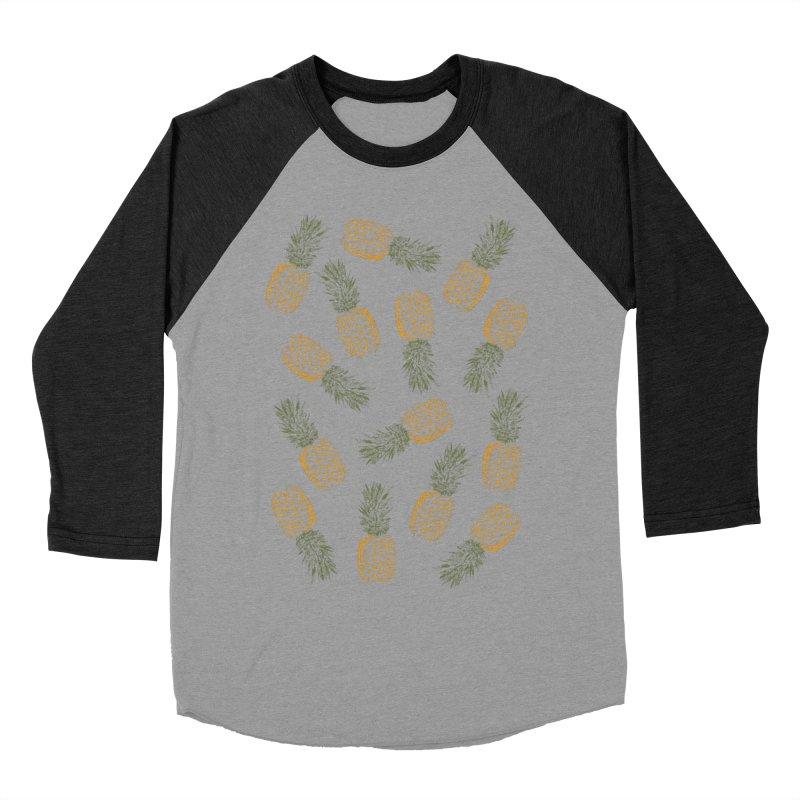 Pineapples Women's Baseball Triblend T-Shirt by ruifaria's Artist Shop
