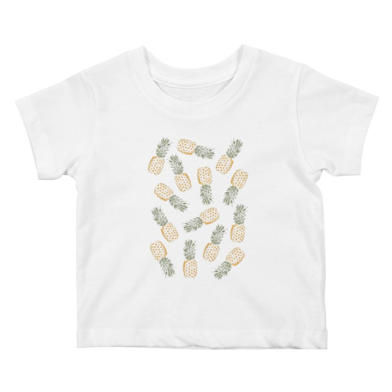 Pineapples Kids Baby T-Shirt by ruifaria's Artist Shop