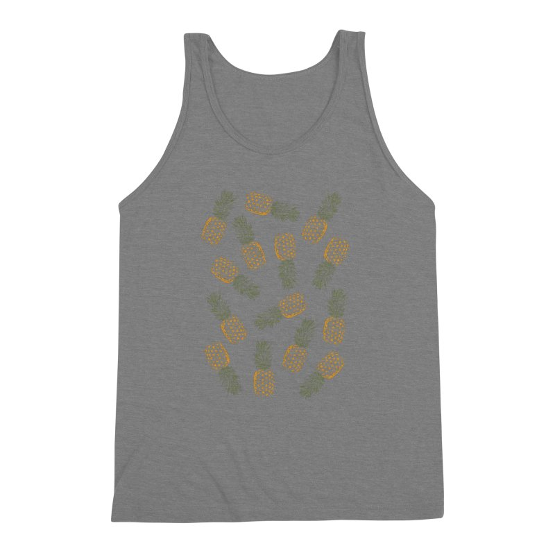 Pineapples Men's Triblend Tank by ruifaria's Artist Shop
