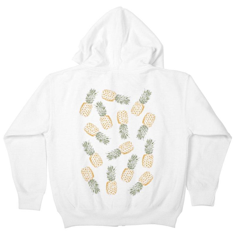 Pineapples Kids Zip-Up Hoody by ruifaria's Artist Shop