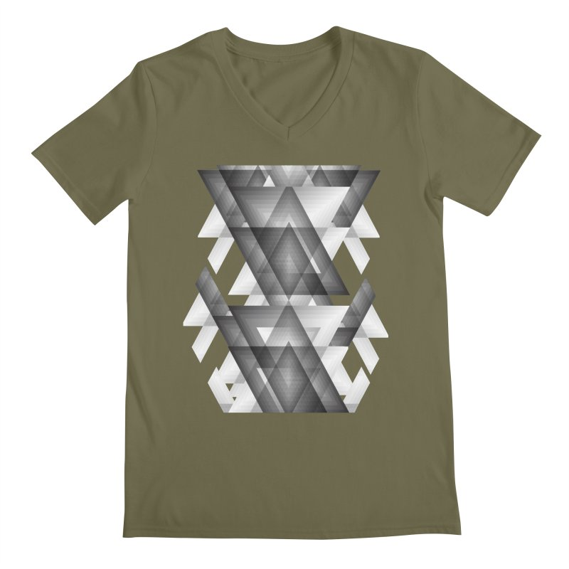 Trianglism Men's V-Neck by ruifaria's Artist Shop