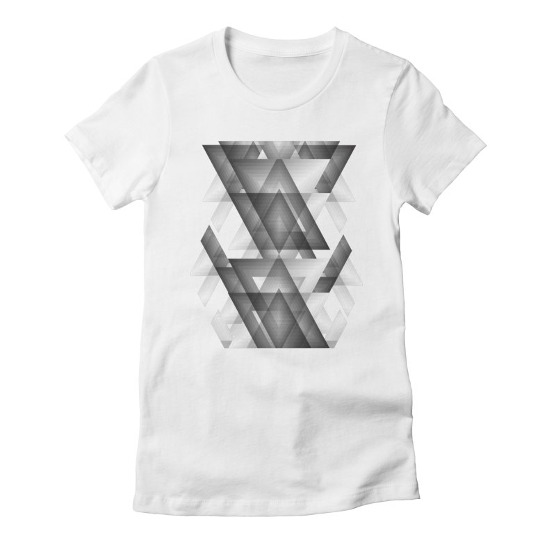 Trianglism Women's Fitted T-Shirt by ruifaria's Artist Shop