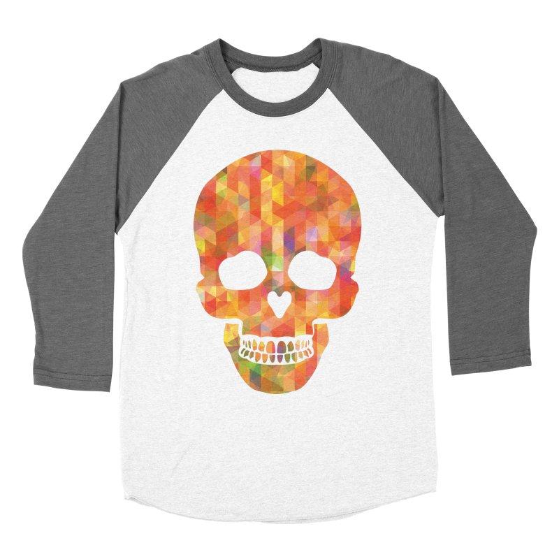Fun Skull Men's Baseball Triblend T-Shirt by ruifaria's Artist Shop