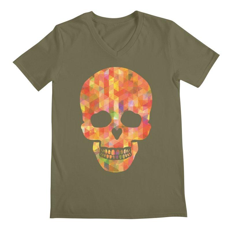 Fun Skull Men's V-Neck by ruifaria's Artist Shop