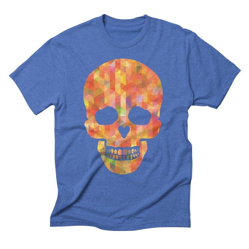 Fun Skull Men's Triblend T-shirt by ruifaria's Artist Shop