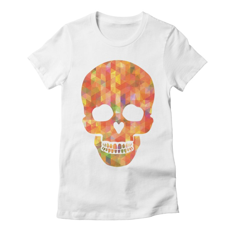 Fun Skull Women's Fitted T-Shirt by ruifaria's Artist Shop