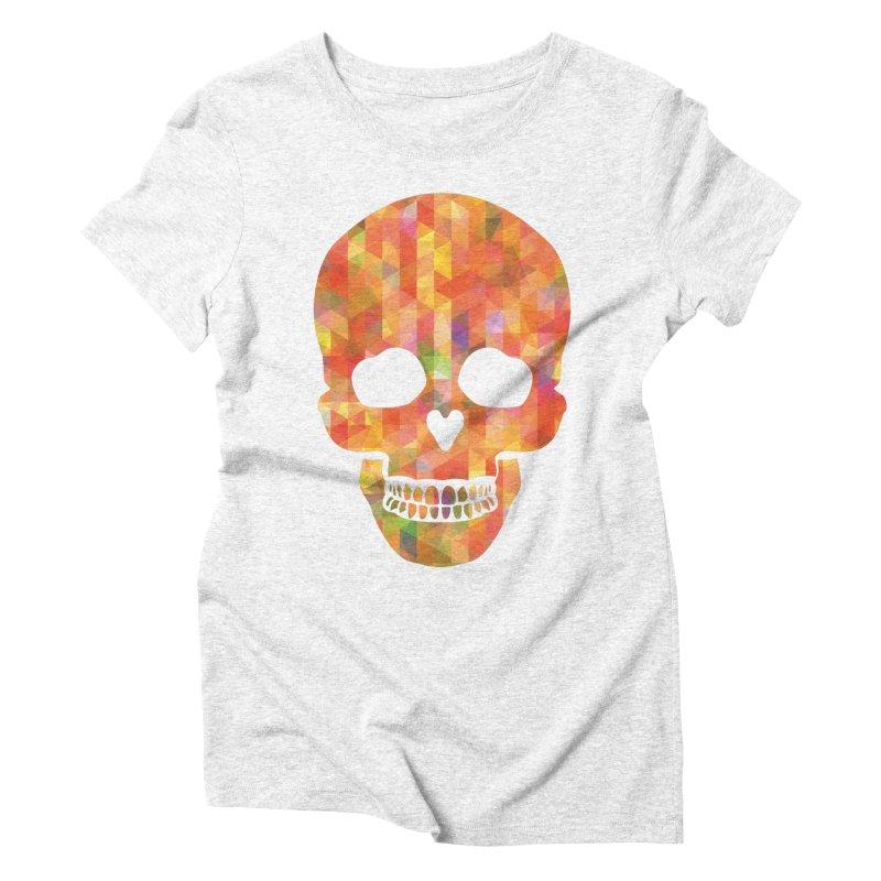 Fun Skull Women's Triblend T-shirt by ruifaria's Artist Shop