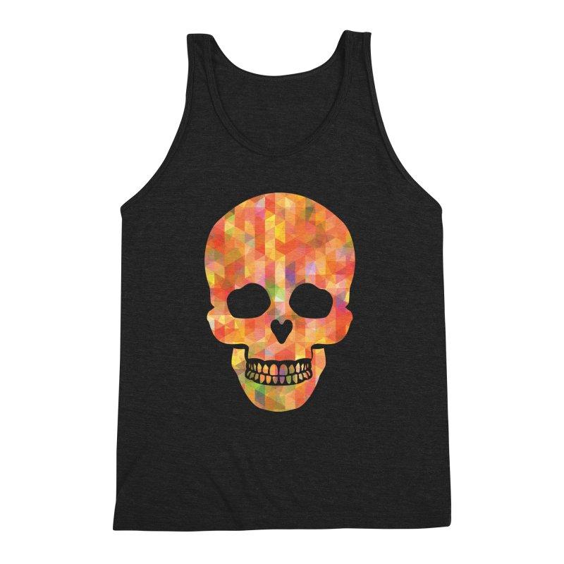 Fun Skull Men's Triblend Tank by ruifaria's Artist Shop