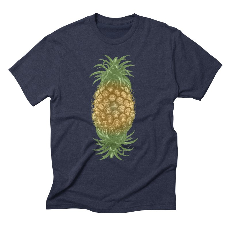 Genetically Engineered Pineapple Men's Triblend T-Shirt by ruifaria's Artist Shop