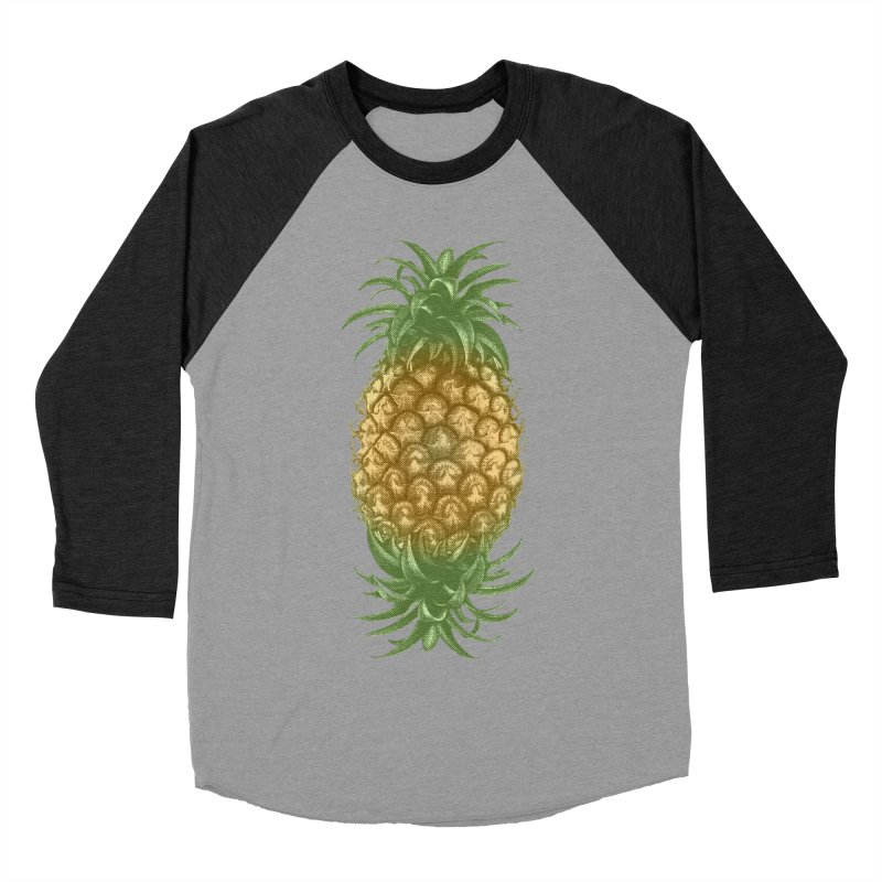 Genetically Engineered Pineapple Men's Baseball Triblend T-Shirt by ruifaria's Artist Shop