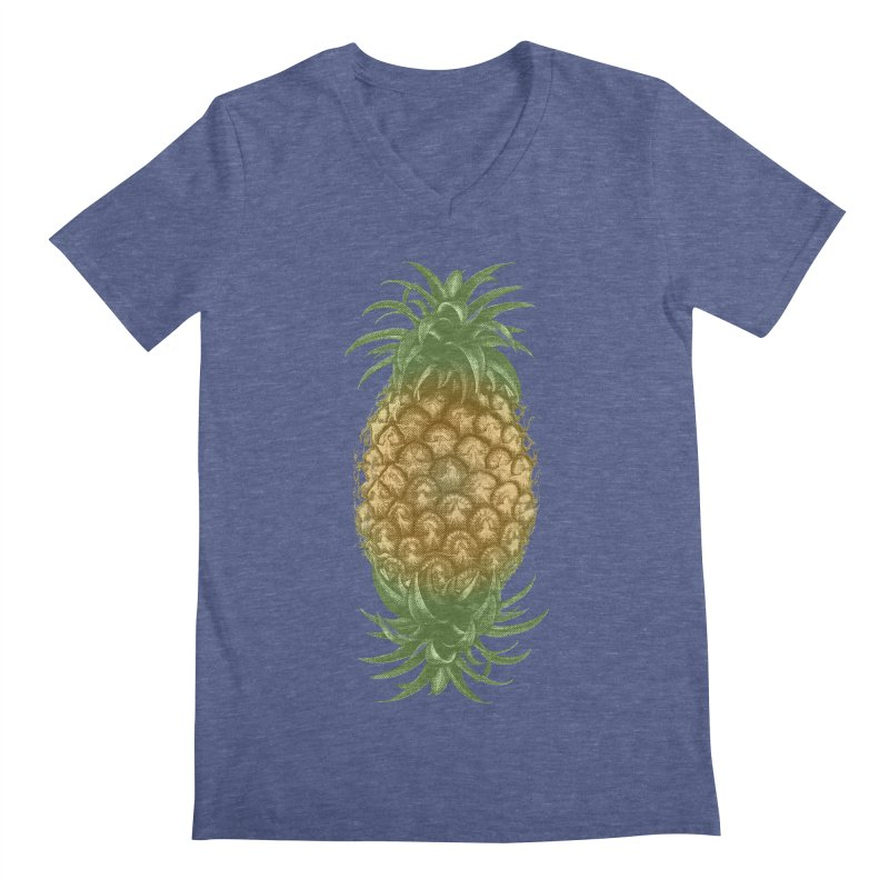 Genetically Engineered Pineapple Men's V-Neck by ruifaria's Artist Shop