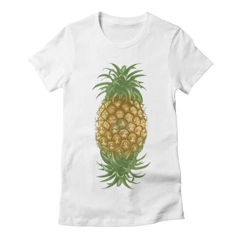 Genetically Engineered Pineapple Women's Fitted T-Shirt by ruifaria's Artist Shop