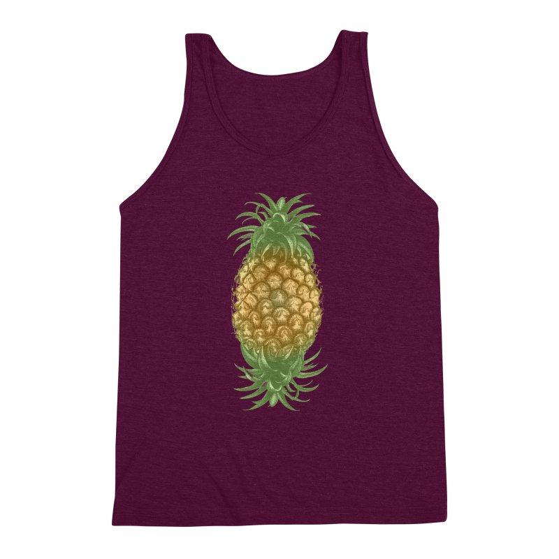 Genetically Engineered Pineapple Men's Triblend Tank by ruifaria's Artist Shop