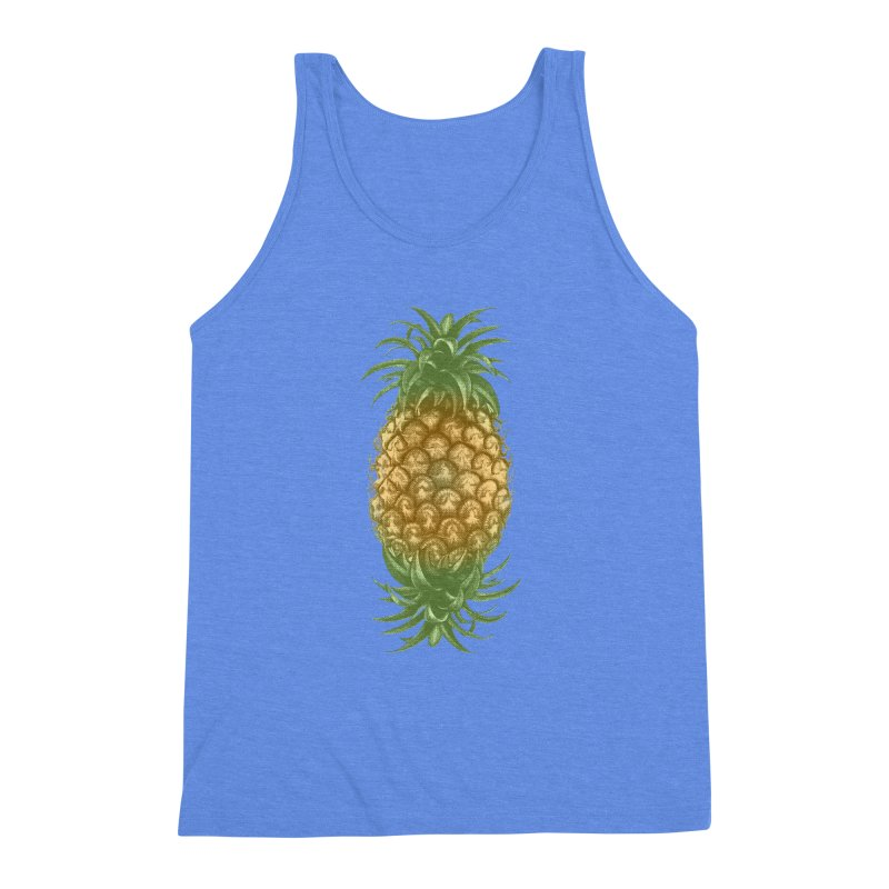 Genetically Engineered Pineapple Men's Triblend Tank by ruifaria's Artist Shop
