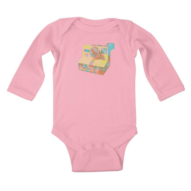 Polaroid Kids Baby Longsleeve Bodysuit by ruifaria's Artist Shop