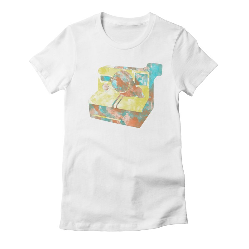 Polaroid Women's Fitted T-Shirt by ruifaria's Artist Shop