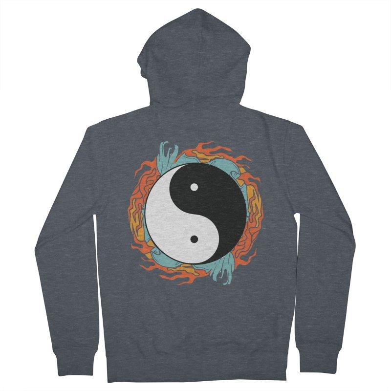 Yin-Yang Hidden Forces Men's Zip-Up Hoody by ruifaria's Artist Shop