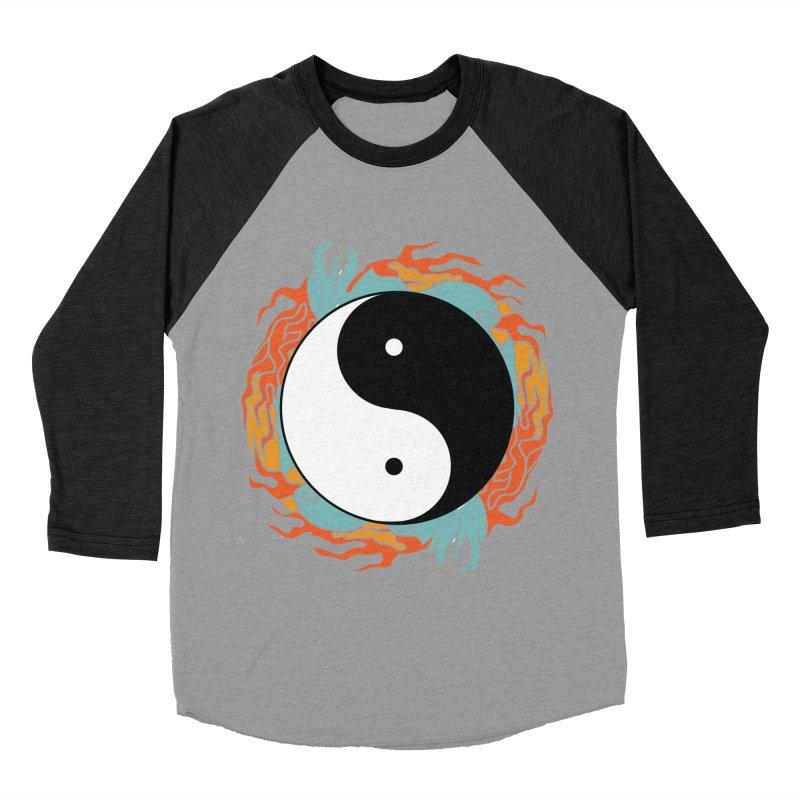 Yin-Yang Hidden Forces Women's Baseball Triblend T-Shirt by ruifaria's Artist Shop
