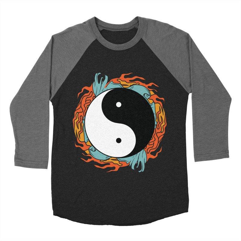 Yin-Yang Hidden Forces Men's Baseball Triblend T-Shirt by ruifaria's Artist Shop